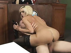 Court judge orders a hard core fuck for Jenny Hendrix