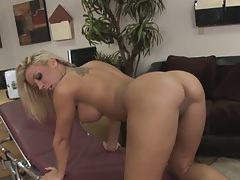 Eating out a sexy round ass and doggy fucking it