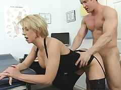 Busty blondie gets her ass plowed