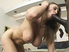 Milfs gets a huge load from a black dick