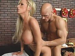 Nikki Benz fucks firefigher and rides his hot huge cock