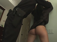Officers perform an anal arrest on a domestic disturbance