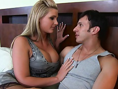 Sexy big tits Phoenix Marie needs help with dicks