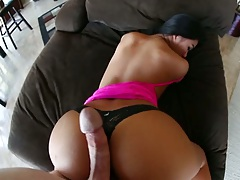 Big dick pov sex with Cindy Starfall getting round ass fucked