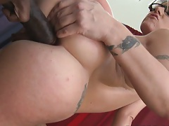 Milf gets sideways stand up anally penetrated