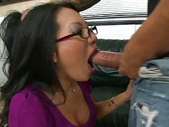 Hot babe in glasses Dickorette getting cumshot