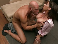 Big tits milf gets tits licked and pussy touched