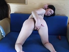 Teen gf with small tits pulls down her panties