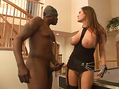 Pool table bending over and slamming Trina Michaels with big cock