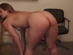 Nice latina Kristi Waters showing butt and fucked by old fat man