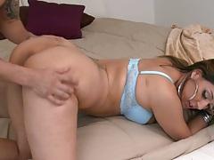 Round ass latina cowgirl ass spreading