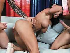 Big tits milf with tattoos double penetration