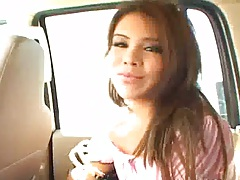 Jessica Castro backseat sitting fully clothed with titty fuck