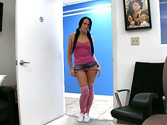 Bobbi Brixton pulling downher panties