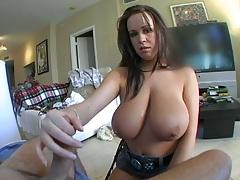 Brandy Talore handjob and cowgirl big ass fuck