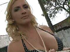 Big tits Latin in a sexy dress
