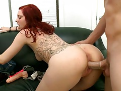 Redhead Ginger Maxx getting doggy fucked during her audtition