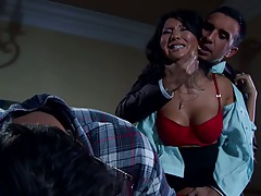 Hot asian with big tits blowjob