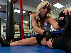 Big tit sin sports with Jessica Training for big boxing