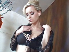 Zdenka Podkapova blonde babe showing off her lingerie and sexy body