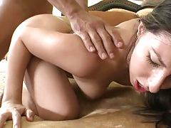 Mexian slut fucked wih ass spreading doggy