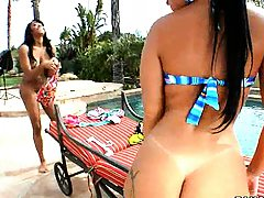 Monica Santhiago and Eve Madison shaking booty