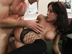 Capri chocked and penetrated from behind by Dera