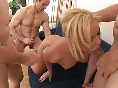 Group sex with Riley Winter pounded like a whore