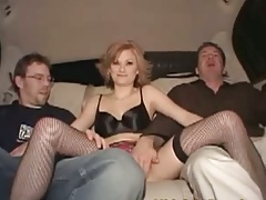Backseat hanging back with Alex Devine sucking some dicks