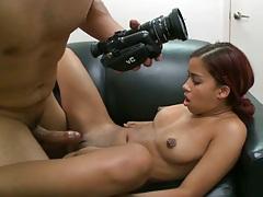 Teen latina Julissa spreads legs for front penetration