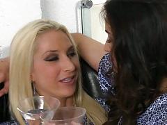 Two hot lesbian milfs Sammie and Georgia