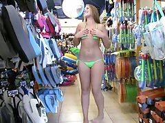 Nikki Stone and Bella shopping for bikinis