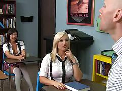 Big tits at school with Dayna the student