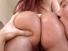 Tiffany deep doggy style anal with ass spreading